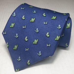 Brooks Brothers blue w/butterflies motif silk tie